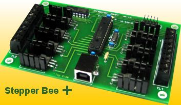 Stepper Bee Usb Adaptor Board For Large Stepper Motor